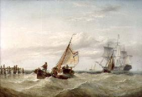 An East Indiaman and other Shipping off the Coast