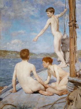 The Bathers, 1889 (oil on canvas) 19th