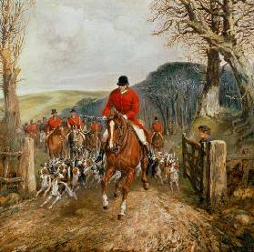 A Hunt Going Through A Gate