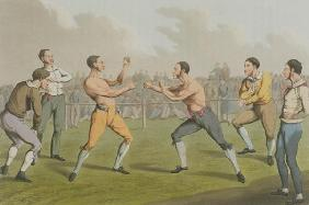A Prize Fight, aquatinted by I. Clark, pub. by Thomas McLean, 1820 (aquatint) 1876