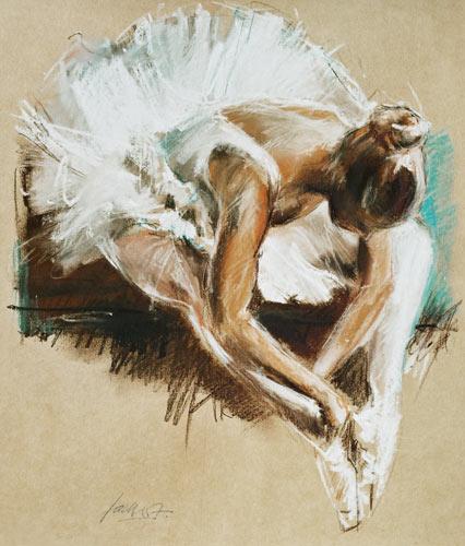 Ballett studie hg fackert als kunstdruck oder for Bild ballerina
