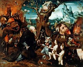 Bosch, Hieronymus : Temptation of St.Anthony /...