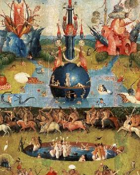 The Garden of Earthly Delights: Allegory of Luxury, detail of the central panel c.1500