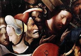 The Carrying of the Cross. detail of Christ and St. Veronica