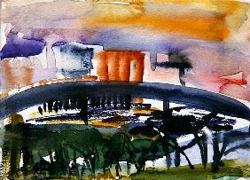 Bridge at Canning Town, Docklands, 2005 (w/c on paper)