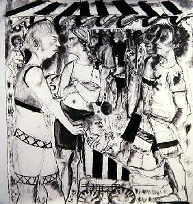Fair at the Park, 2006 (charcoal on paper)
