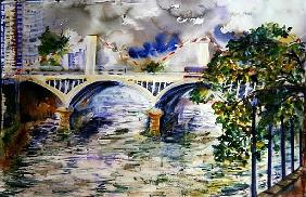 Grosvenor Bridge, 2006 (w/c on paper)