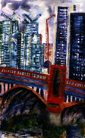 Vauxhall Bridge, 2006 (w/c on paper)
