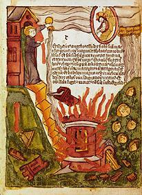 Kunstdruck von  Holzschnitt (koloriert) - Die Apokalypsis des Johannes