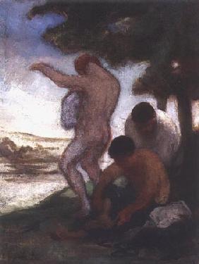 Kunstdruck von Honoré Daumier - Baigneurs