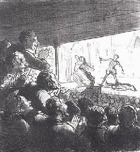 Kunstdruck von Honoré Daumier - Croquis de Théâtre