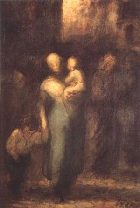 Kunstdruck von Honoré Daumier - Dans a rue on Une rue dans Paris