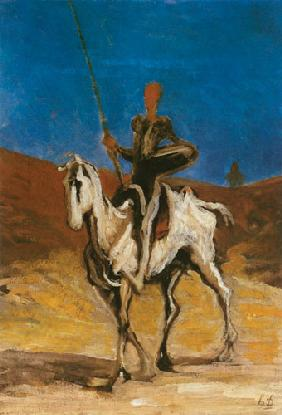 Kunstdruck von Honoré Daumier - Don Quichotte