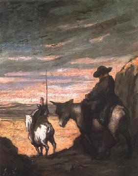 Kunstdruck von Honoré Daumier - Don Quichotte et Sancho Pança ll