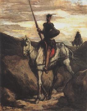 Kunstdruck von Honoré Daumier - Don Quichotte et Sancho Pança lll