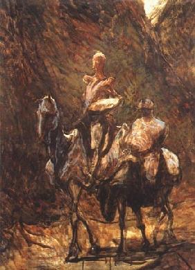 Kunstdruck von Honoré Daumier - Don Quichotte et Sancho Pança l
