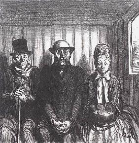 Kunstdruck von Honoré Daumier - En chemin de fer