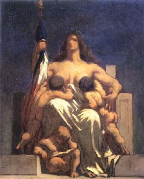 Kunstdruck von Honoré Daumier - Esquisse de La République