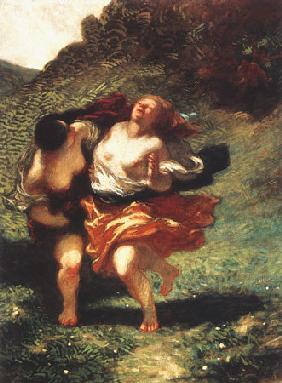 Kunstdruck von Honoré Daumier - Femmes poursuivies par des satyres
