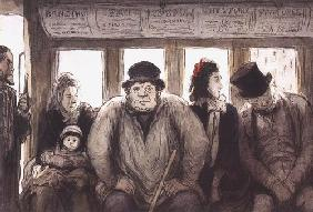 Kunstdruck von Honoré Daumier - Intérieur d´un omnibus