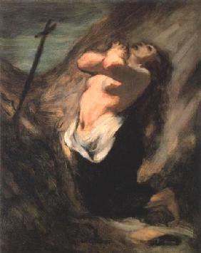Kunstdruck von Honoré Daumier - La Madeleine au désert