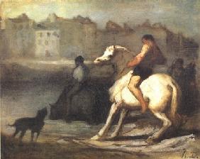Kunstdruck von Honoré Daumier - L´Abreuvoir
