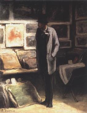 Kunstdruck von Honoré Daumier - L´Amateur d´estampes