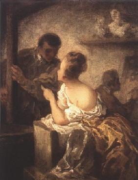 Kunstdruck von Honoré Daumier - L´Atelier