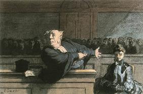 Kunstdruck von Honoré Daumier - Le Défenseur