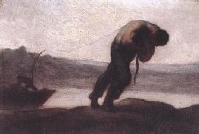 Kunstdruck von Honoré Daumier - Le Haleur ou Le Tireur de bateau