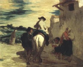 Kunstdruck von Honoré Daumier - Le Meunier, son filset l´âne
