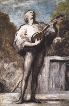 Kunstdruck von Honoré Daumier - Le Troubadour