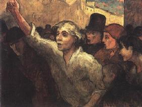 Kunstdruck von Honoré Daumier - L´Èmeute