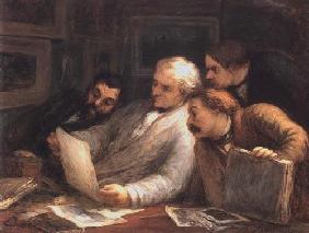 Kunstdruck von Honoré Daumier - Les Amateurs d´estampes