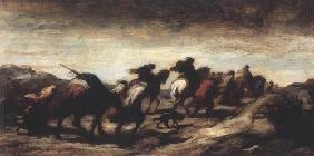 Kunstdruck von Honoré Daumier - Les Fugitifs