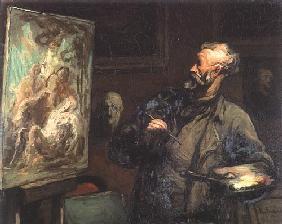 Kunstdruck von Honoré Daumier - Der Maler
