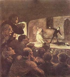 Kunstdruck von Honoré Daumier - Melodrama