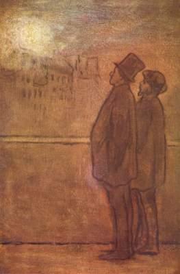 Kunstdruck von Honoré Daumier - Die Nachtschwärmer
