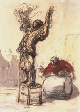 Kunstdruck von Honoré Daumier - Paillasse