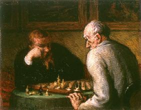 Kunstdruck von Honoré Daumier - Schachspieler