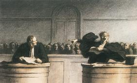 Kunstdruck von Honoré Daumier - Une cause célèbre