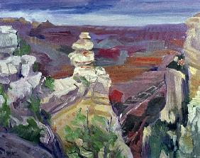 Famous Rock, Grand Canyon, 2000 (oil on canvas)