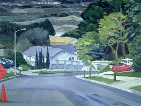 Looking Down My Street, 2000 (acrylic on canvas)