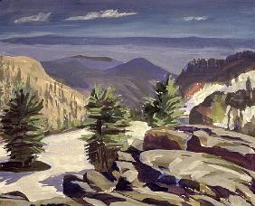 Mountain Vista, at Lassen Volcanic National Park, 2000 (acrylic on canvas)