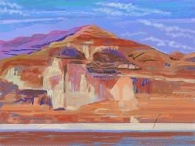 Painted Cliffs, Lake Powell (computer art)