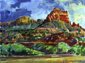 Sedona Sentinels, 2000 (acrylic on canvas)