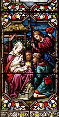 The Adoration of the Shepherds, 1865 (stained glass) 1558