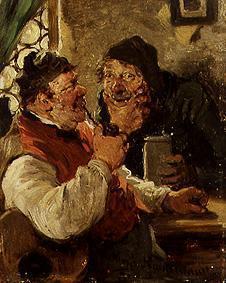 Kunstdruck von Hugo Wilhelm Kauffmann - Die Dorfpolitiker