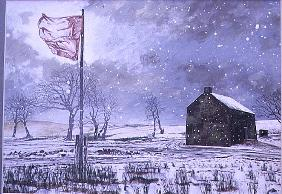 Drover''s Arms and the Red Flag, near Garth, 1992 (gouache on card)