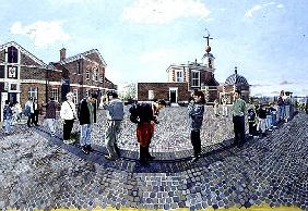 East and West from Greenwich, 1997 (oil on board)